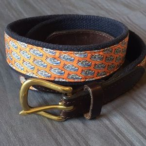 Kids boat Vineyard Vines belt, leather